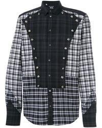 Dolce & Gabbana - Button Detail Checked Shirt - Lyst