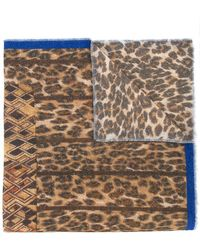 Pierre Louis Mascia - Animal Print Scarf - Lyst