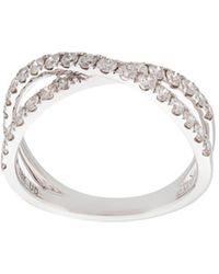 Marchesa Anello incrociato in oro bianco 18kt e diamanti