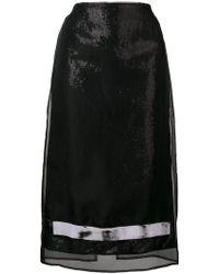 BROGNANO - Sequin Embellished Pencil Skirt - Lyst