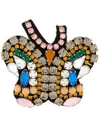 P.A.R.O.S.H. - Butterfly Embellished Brooch - Lyst