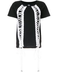 KTZ - Lace-up T-shirt - Lyst