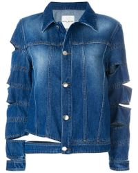 Each x Other - Ripped Effect Denim Jacket - Lyst