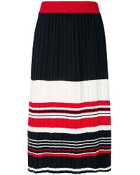 Chinti & Parker - Striped Pleated Skirt - Lyst