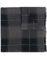 Rick Owens - Long Checked Scarf - Lyst