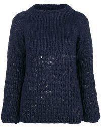 Gentry Portofino - Lurex Knit Jumper - Lyst