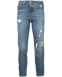 Levi's - 'Wedgie Icon' Cropped-Jeans - Lyst