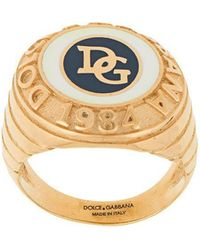 Dolce & Gabbana - Dg Logo Ring - Lyst