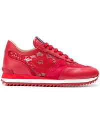 Le Silla - Lace-panelled Trainers - Lyst