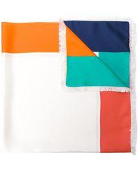 Ferragamo - Colour Block Scarf - Lyst