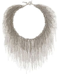 Fabiana Filippi - Ball Chain Cascade Necklace - Lyst