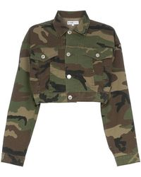 RE/DONE - Cropped Camouflage Cotton-blend Jacket - Lyst