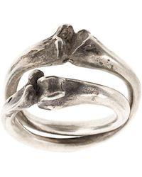 Werkstatt:münchen - Cross Bones Ring - Lyst
