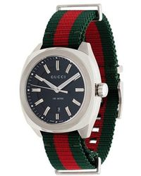 e069d6a6f22 Lyst - Gucci G-timeless Sport Extra Large Stainless Steel And Web ...