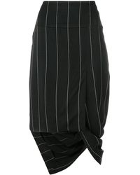 Haider Ackermann - Asymmetric Striped Skirt - Lyst