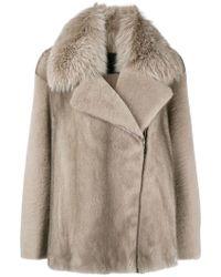 Blancha - Asymmetric Fur Jacket - Lyst