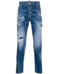 DSquared² - Slim Distressed Jeans - Lyst