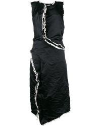 Comme des Garçons - Frayed Ruffled Trim Dress - Lyst