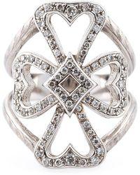 Loree Rodkin - Diamond Maltese Cross Midi Ring - Lyst