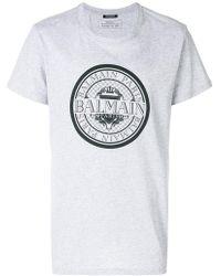 Balmain - Circle Logo T-shirt - Lyst