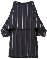 Yigal Azrouël - Pinstriped Off The Shoulder Top - Lyst