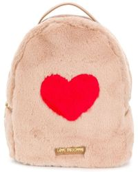 Love Moschino - Faux Fur Backpack - Lyst