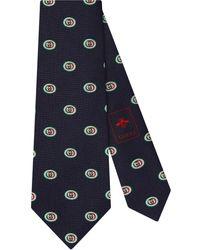 Gucci - Printed GG Silk Tie - Lyst