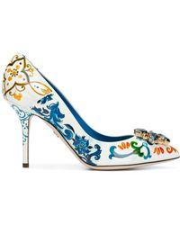 Dolce & Gabbana - Majolica-print Bellucci Pumps - Lyst