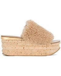 Chloé - Camille Flatform Sandals - Lyst