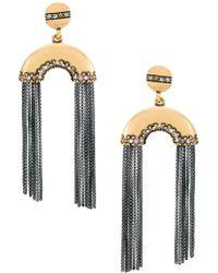 Camila Klein - Multiple Chains Long Earrings - Lyst