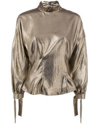 8pm - Loose Frilled Blouse - Lyst