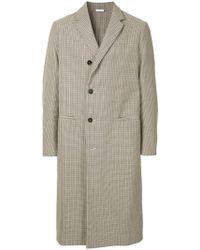 Jil Sander - Checked Long Coat - Lyst