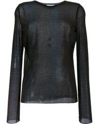 Nina Ricci - Sheer Longsleeved T-shirt - Lyst