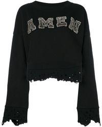 Amen - Cropped Logo Jumper - Lyst