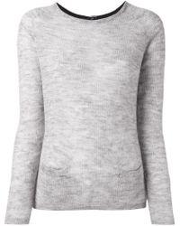 Sun 68 - Back-Button Fine Wool and Alpaca-Blend Knit Jumper - Lyst