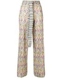 Missoni - High Waist Knit Trousers - Lyst