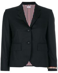 Thom Browne - Classic Single Breasted Sport Coat With Wristwatch Applique & Combo Lapel In Super 120's Twill - Lyst