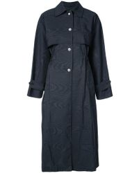 Adam Lippes - Button-embellished Trench Coat - Lyst