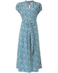 74737c98adbd2d Aspesi - Liberty Silk Crepe Floral Dress - Lyst
