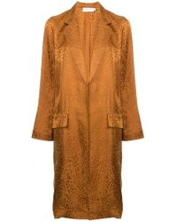 A.L.C. - Animal Print Single-breasted Coat - Lyst