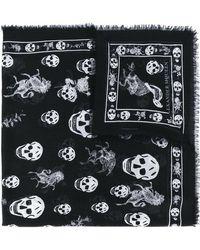 Alexander McQueen - Skull-print Scarf - Lyst