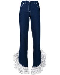 House of Holland | Polka Dot Ruffled Hem Jeans | Lyst