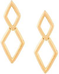 Kenneth Jay Lane - Diamond Drop Earrings - Lyst