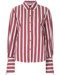 Jil Sander Navy - Striped Fitted Shirt - Lyst