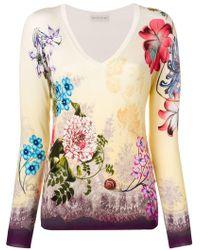 Etro - Paisley & Flower Knit Sweater - Lyst