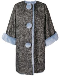 Dolce & Gabbana - Fur-trim Oversized Coat - Lyst