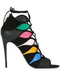 Ferragamo - Colour Block Sandals - Lyst