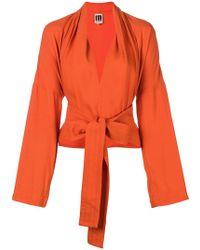 I'm Isola Marras - Tie Waist Cropped Jacket - Lyst