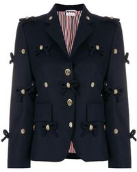 Thom Browne - Bow Applique Flannel Sport Coat - Lyst