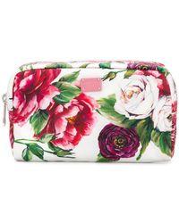 Dolce & Gabbana - Rose Print Wash Bag - Lyst